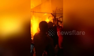 Good Samaritans rescue elderly couple trapped in burning house