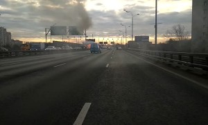 Car Explodes on Russian Highway