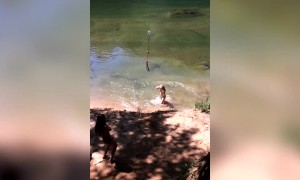 Funny Rope Swing Fails