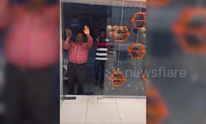 Hilarious glass door prank goes viral in India