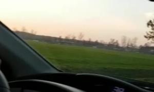 Deer Clears Moving Car at Full Speed