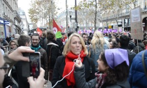 Hundreds march through Paris to call for end to violence against women