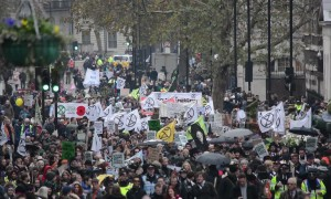 Climate change activists disrupt London with 'funeral march'