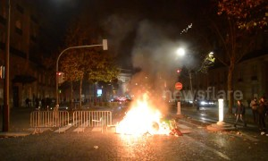 "Vehicles burn in Paris as ""yellow vest"" protest continues overnight"