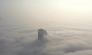 Thick fog and smog shroud entire city in China