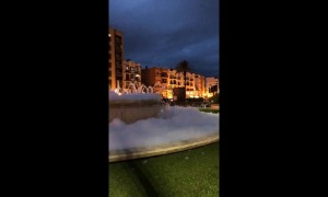 Foam party! Spanish police baffled after pranksters fill fountain with washing powder