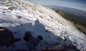 Climber Saved from Scary Slide Off Snow Ramp