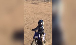Kid on a Motorbike Causes Mayhem!