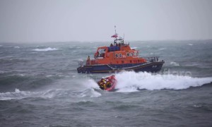 Man rescued by coastguard after going for a swim during storm