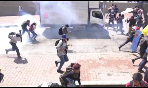 Colombian police fire tear gas at university students during nation-wide protests