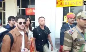 Nick Jonas and Priyanka Chopra arrive in Jodhpur, India for their wedding
