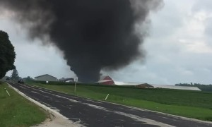 Aftermath of Sheboygan Falls Plane Crash