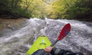 60 Foot Waterfall in a Kayak
