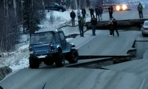 Massive Earthquake Turns Roads into 4x4 Tracks