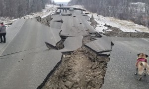 Road Shattered by Earthquake