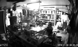 Garage security camera shows moment Alaska quake struck