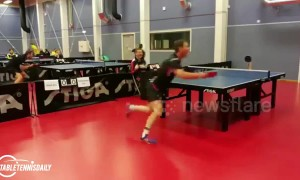 Kid becomes blind master on the ping-pong table