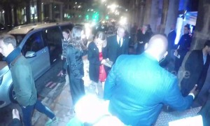 Emma Stone signs autographs upon arrival at British Independent Film Awards