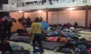 Migrants relocated to new shelter at Tijuana border