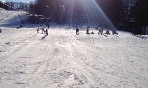 Tried To Record My Daughter Skiing But The Little Guy In The Lower Left Stole The Show