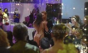 Strictly Come Dancing stars Katya Jones and Neil Jones perform routine at Karen Hardy Studios 10th Anniversary Gala