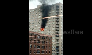Massive fire breaks out at New Jersey high rise