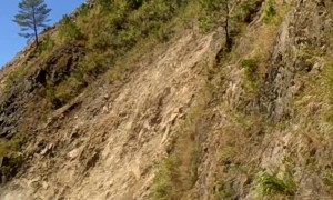 Dangerous Rockslide Rumbled Down on Road