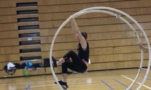 Circus Artist Tackles a New Trick