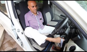Indian man without arms overcomes all obstacles to become successful driver