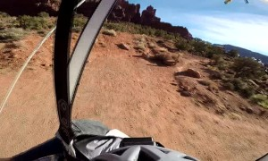 Wingsuit Pilot Jumps from Dragon's Nest