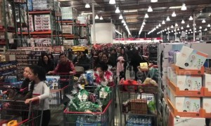 Holiday shoppers pack Costco as Christmas nears