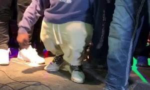 KneeHigh Dances on Stage