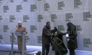 'Fearless Girl' statue gets new location at New York Stock Exchange