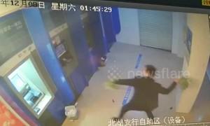 Alleged drunk man destroys ATM machines after bank card was swallowed