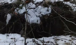 Alaskan Discovers a Huge Sinkhole After Earthquake