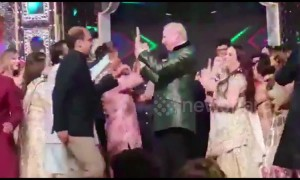 At celebrity Indian wedding the Clintons danced with Bollywood superstars