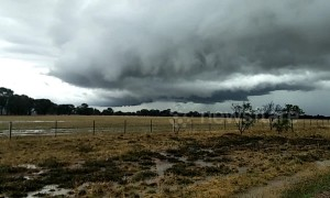 Ominous clouds hang over Victoria skies as storm system rolls in