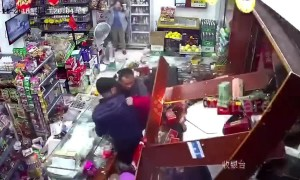 Alleged drunk driver plunges car into shop counter