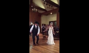 This father-daughter wedding dance had every guest up on their feet
