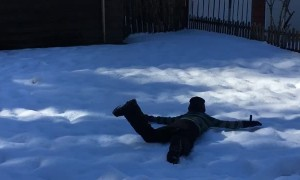 Snow Dive Fail
