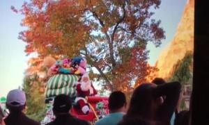 Santa Plummets at Parade
