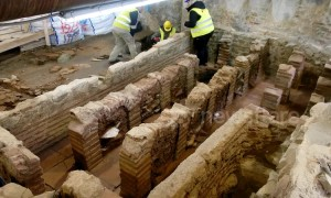 Greek subway workers unearth ancient Roman baths while digging metro station