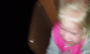 Little Girl Reacts to First Roller Coaster Ride