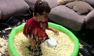 Pool of Popcorn Birthday Surprise