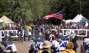 Medieval knights from US, Poland and UK battle it out in Scotland