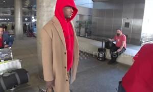 Rapper YG arrives in Los Angeles amid lawsuit