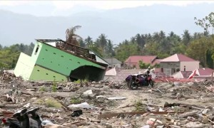Months after the Sulawesi earthquake towns are still in ruins