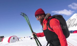 Record-setting Brit skier gives final interview before setting off alone to South Pole