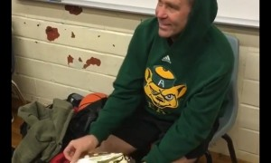 High school students surprise teacher with pair of Jordan sneakers