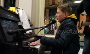 Twelve-year-old travels Netherlands playing station pianos to raise money for sick sister